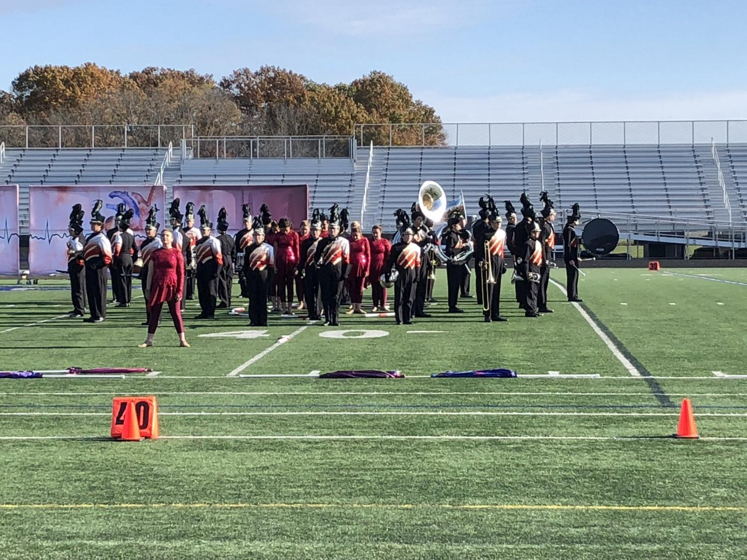 The marching band performing at OMEA State Marching Band Competition last Saturday.  (Source: Christopher Saiben, @CESaiben on Twitter)