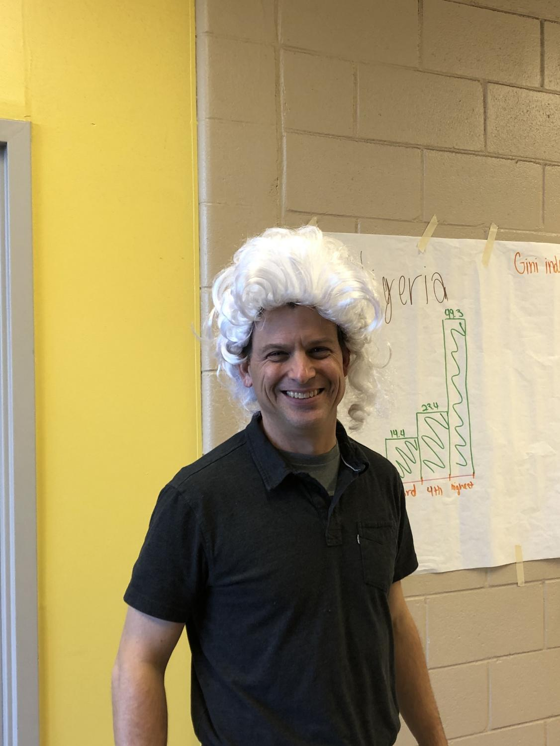 Mr. Brady wearing his whig wig.