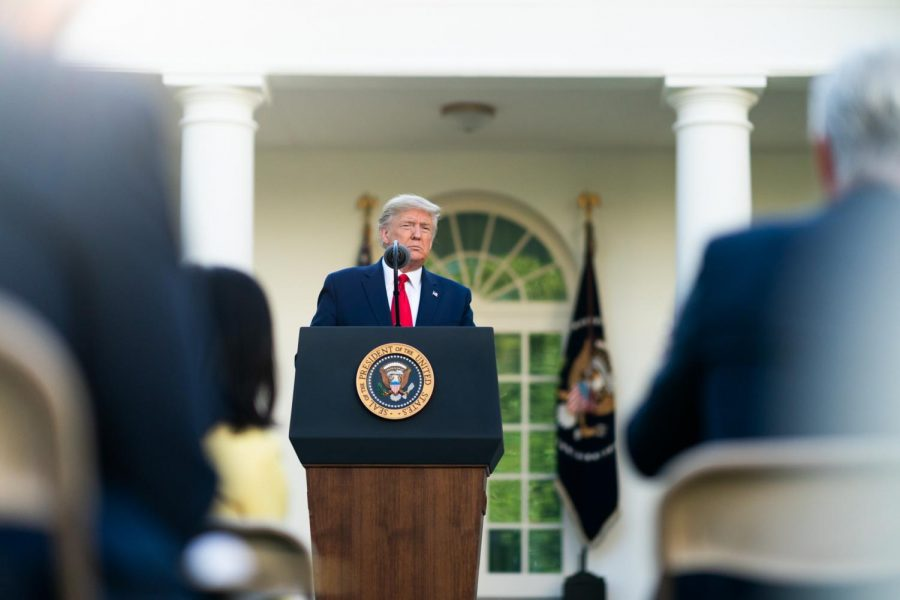 President+Trump+delivers+remarks+about+the+coronavirus+during+a+press+briefing.+Source%3A+Creative+Commons