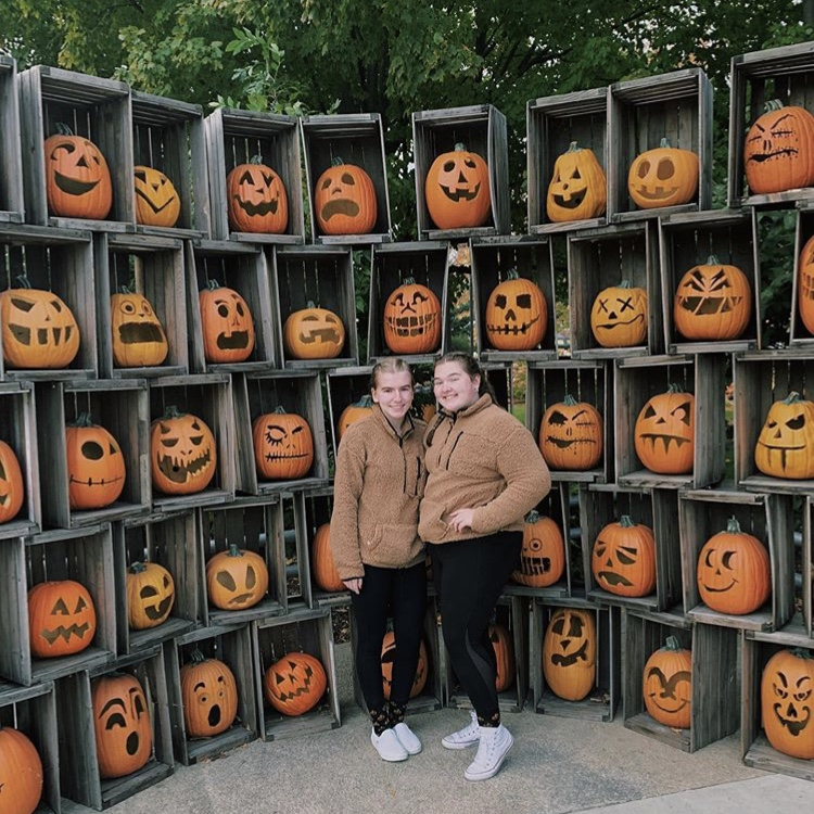 Pictured: Junior Staci Tomblin and Sophomore Kendal Laucher attending Cedar Points Haunted House