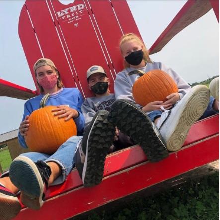 North Senior, Brynn Blacksone goes to the pumpkin patch with her family! Photo courtesy of Brynn Blacksone