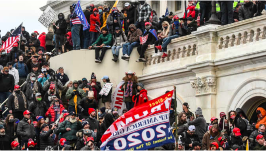 Rioters break through barriers at Capitol Building, disrupt counting of electoral votes inside (credit-CNBC)