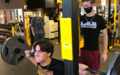 Westerville North baseball player, Connor Warthman, in the weight room for a preseason workout.  Photo Courtesy of Donovan Varney